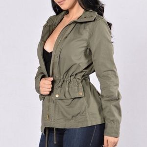 Love Tree Army Green Military Style Utility Jacket